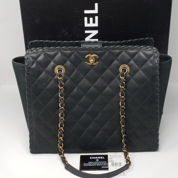 ac396206f8bb CHANEL Handbags - 100% Auth CHANEL Iridescent Calfskin Quilted Tote